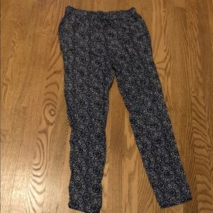 soft patterned pants!